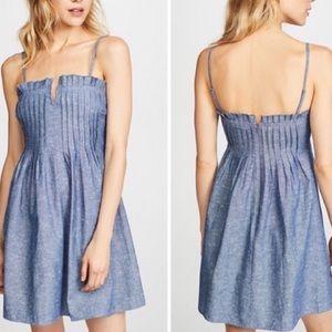 Madewell Chambray Pintuck Cami Dress
